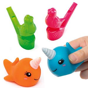 Water Squirters and Whistles
